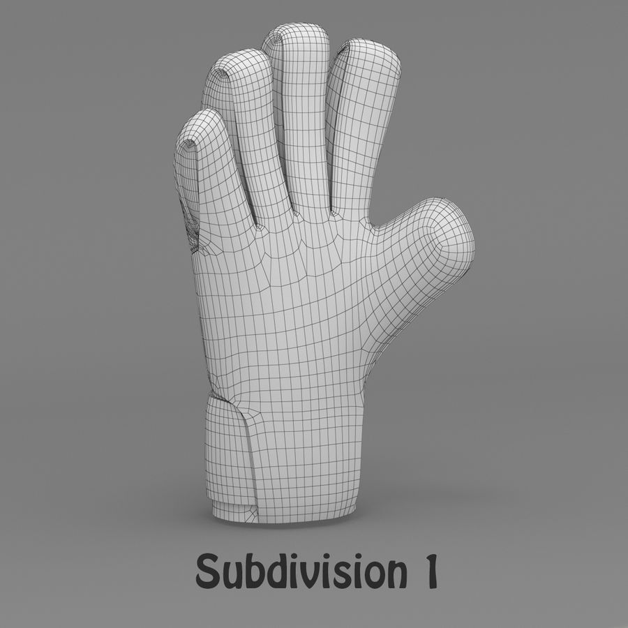 Puma V-Konstrukt II Keeper Glove royalty-free 3d model - Preview no. 14