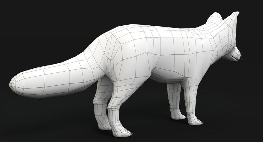 Fox Animated royalty-free 3d model - Preview no. 16
