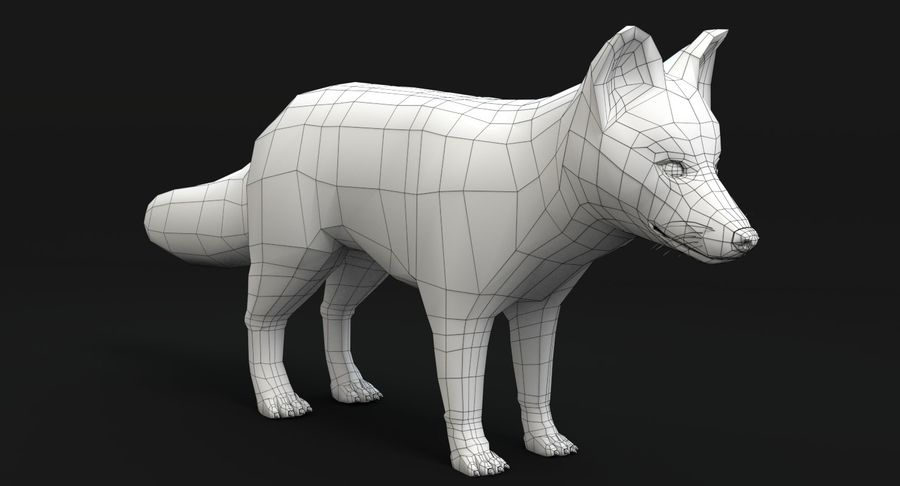Fox Animated royalty-free 3d model - Preview no. 15
