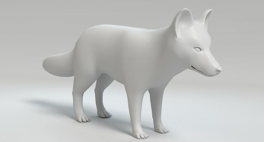 Fox Animated royalty-free 3d model - Preview no. 13