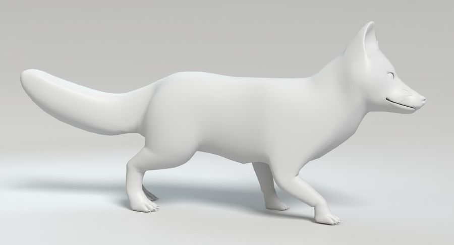 Fox Animated royalty-free 3d model - Preview no. 12