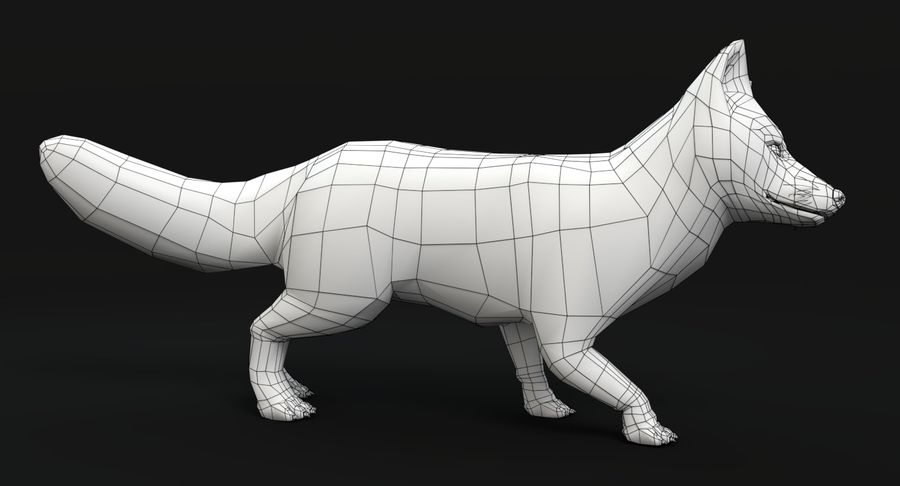 Fox Animated royalty-free 3d model - Preview no. 14