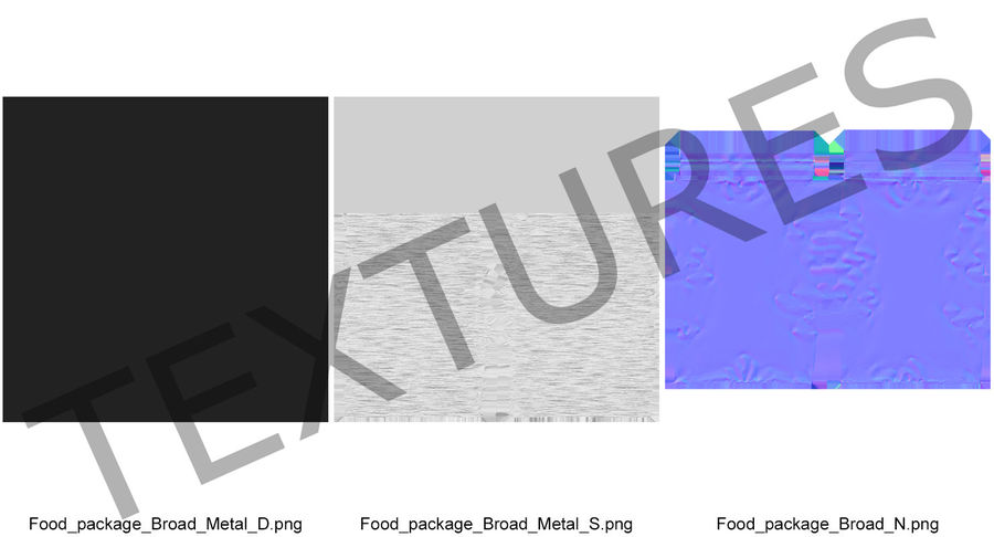 Foil Food Package royalty-free 3d model - Preview no. 13