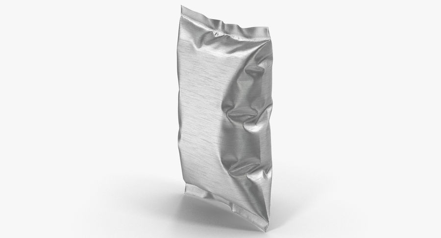 Foil Food Package royalty-free 3d model - Preview no. 6