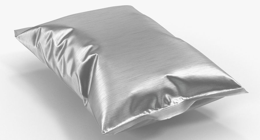 Foil Food Package royalty-free 3d model - Preview no. 3