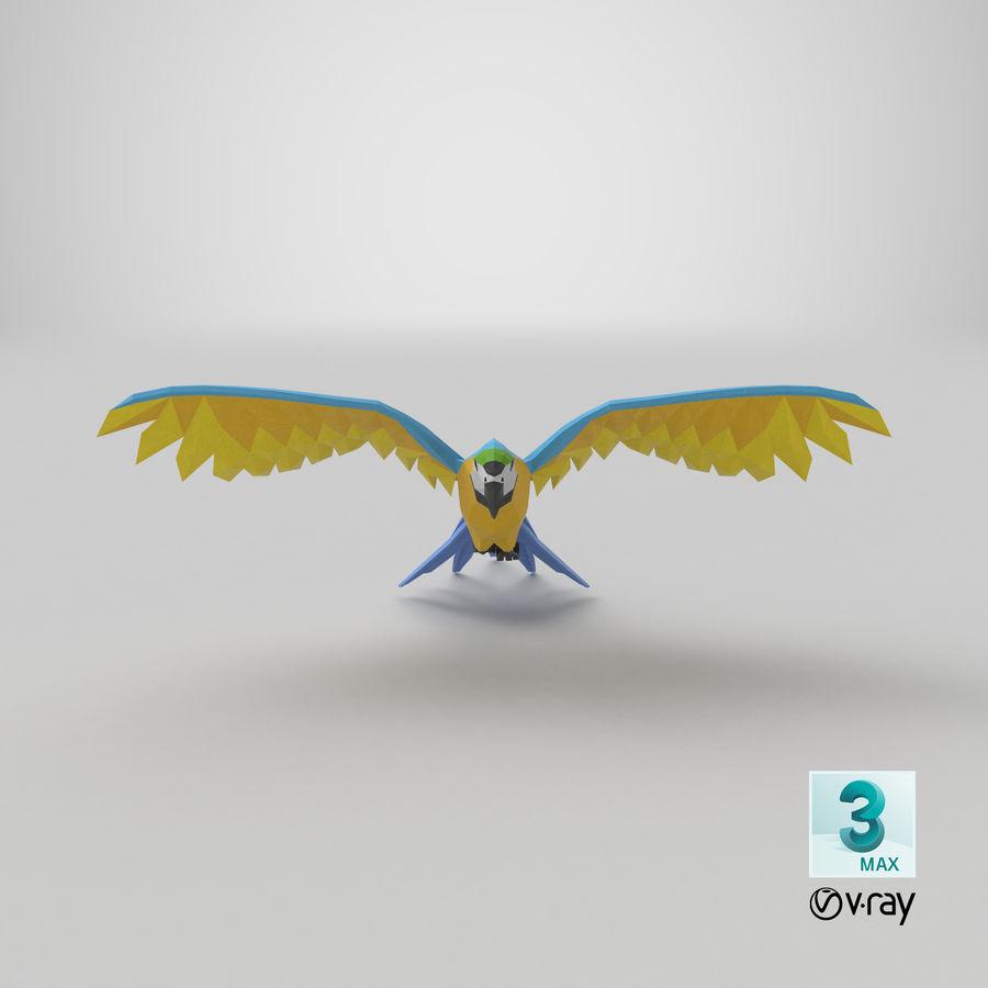 Papağan Mavi Uçan royalty-free 3d model - Preview no. 21