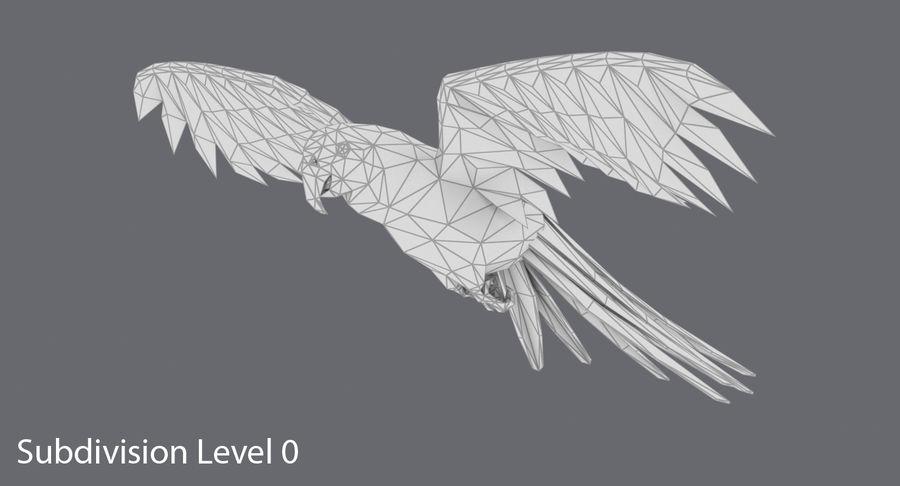 Papağan Mavi Uçan royalty-free 3d model - Preview no. 12