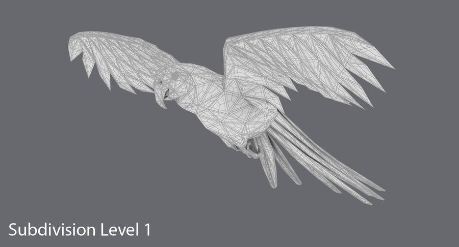 Papağan Mavi Uçan royalty-free 3d model - Preview no. 15