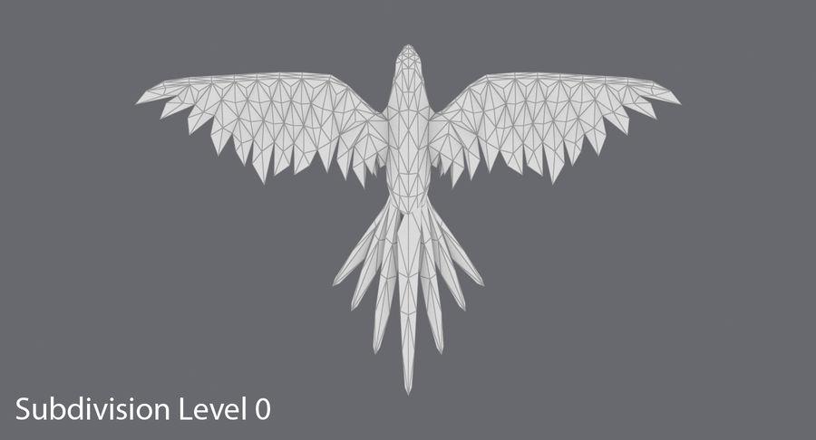 鹦鹉蓝飞 royalty-free 3d model - Preview no. 13