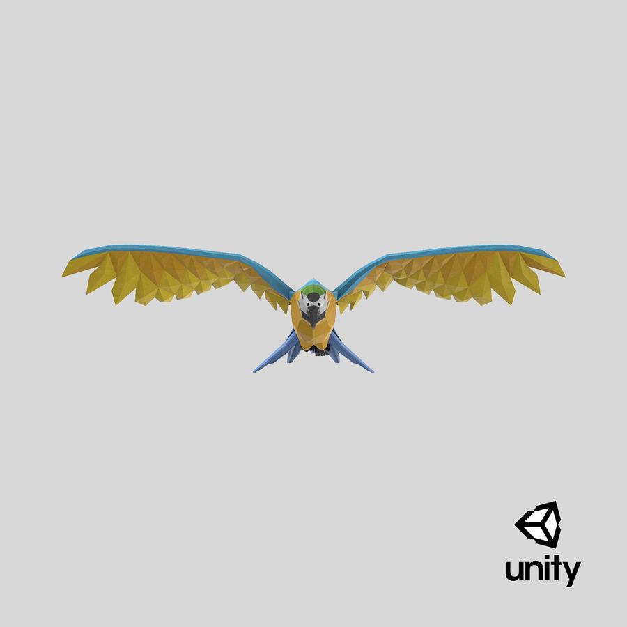 Papağan Mavi Uçan royalty-free 3d model - Preview no. 24