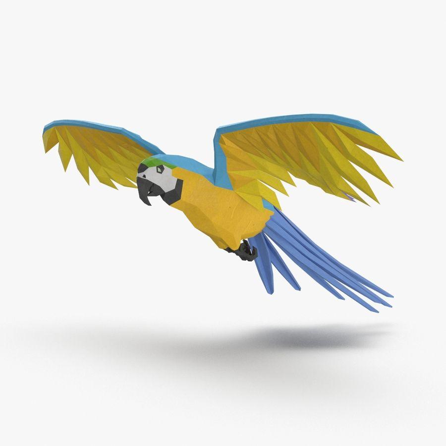 Papağan Mavi Uçan royalty-free 3d model - Preview no. 1