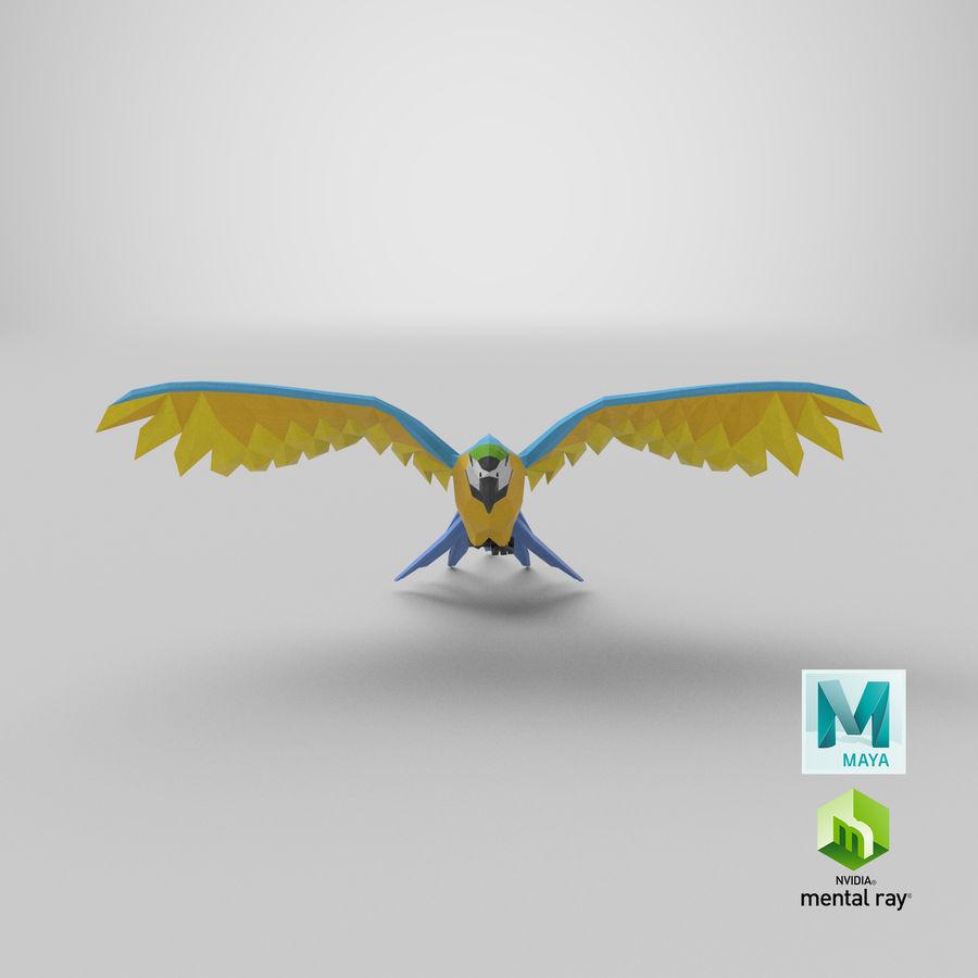 Papağan Mavi Uçan royalty-free 3d model - Preview no. 20