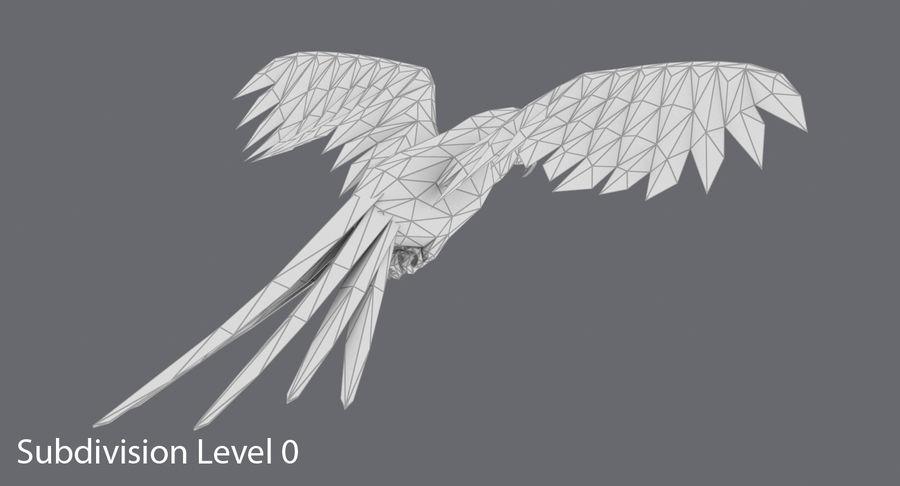 Papağan Mavi Uçan royalty-free 3d model - Preview no. 14