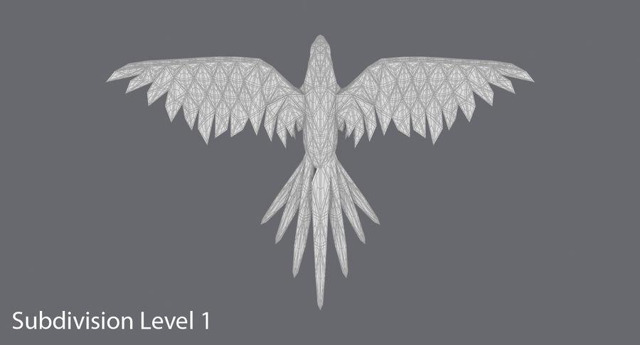 鹦鹉蓝飞 royalty-free 3d model - Preview no. 16