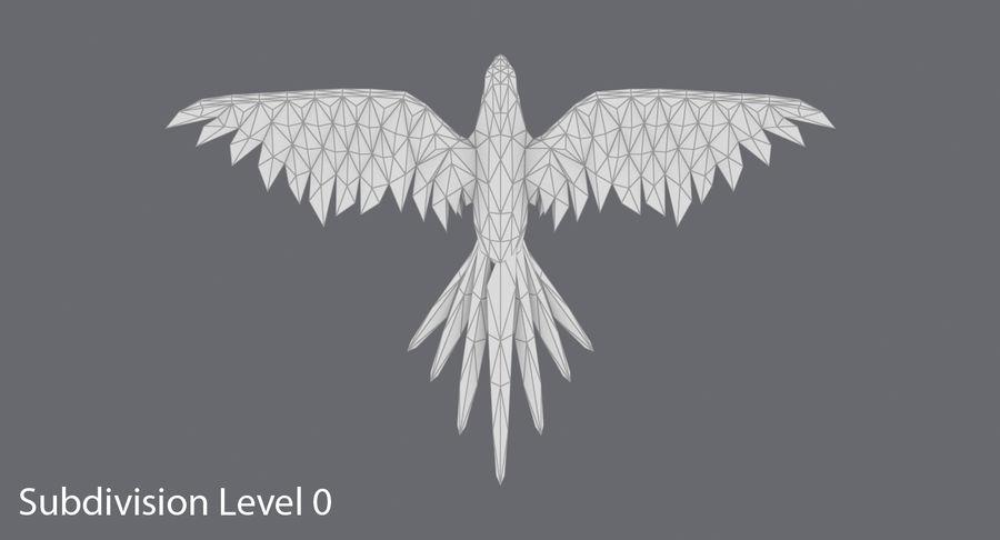 Papağan Mavi Uçan royalty-free 3d model - Preview no. 13