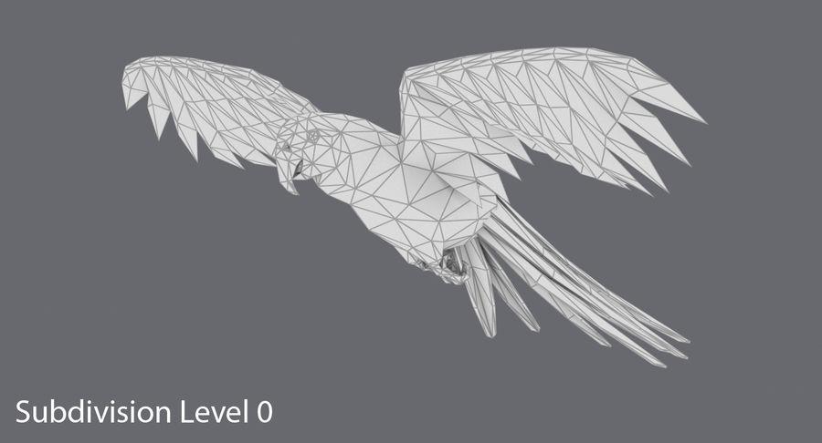 鹦鹉蓝飞 royalty-free 3d model - Preview no. 12