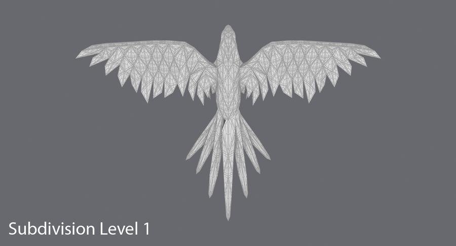 Papağan Mavi Uçan royalty-free 3d model - Preview no. 16