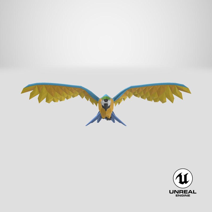 Papağan Mavi Uçan royalty-free 3d model - Preview no. 23
