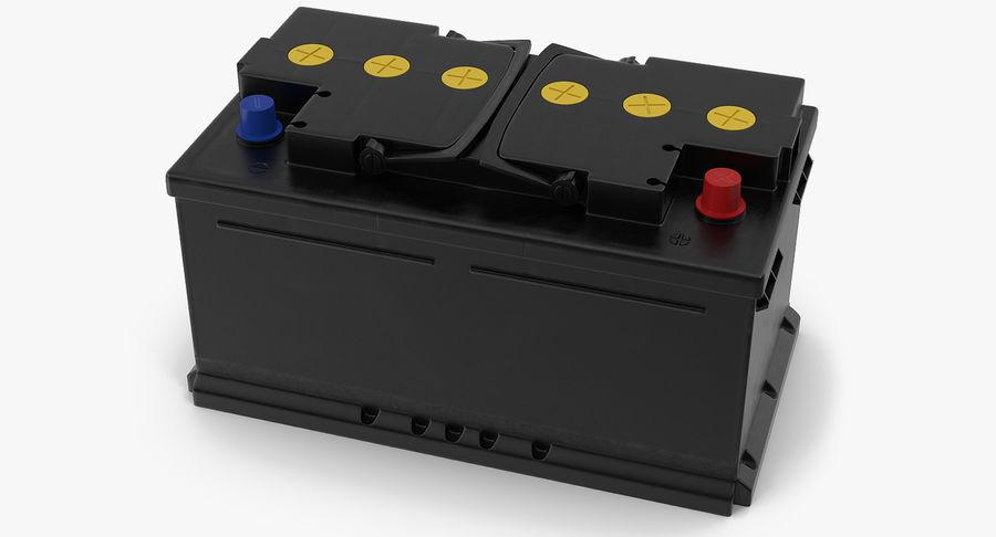Bateria do carro 12v royalty-free 3d model - Preview no. 2