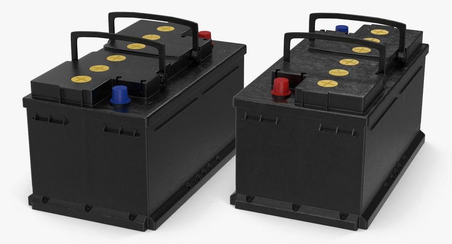 Bateria do carro 12v royalty-free 3d model - Preview no. 9