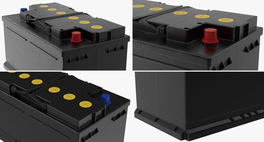 Bateria do carro 12v royalty-free 3d model - Preview no. 10