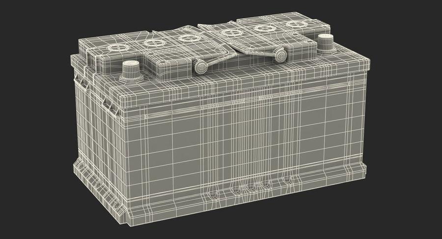 Bateria do carro 12v royalty-free 3d model - Preview no. 18