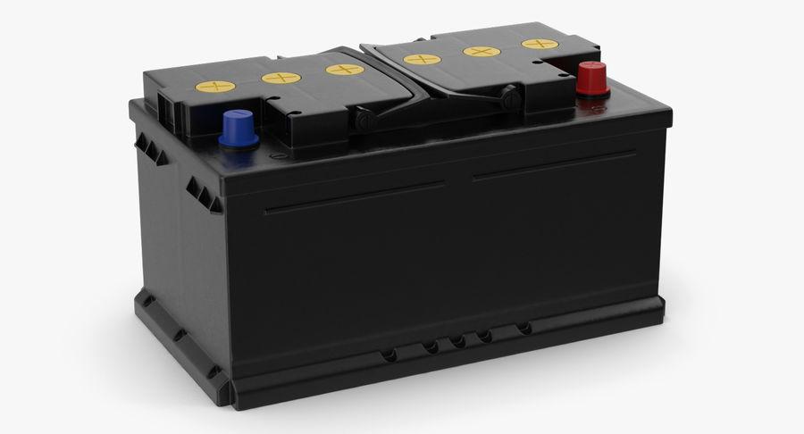 Bateria do carro 12v royalty-free 3d model - Preview no. 3
