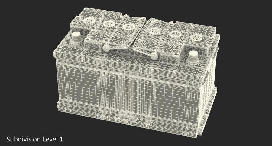Bateria do carro 12v royalty-free 3d model - Preview no. 12