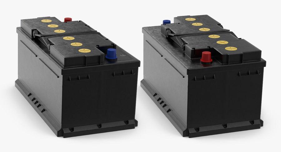 Bateria do carro 12v royalty-free 3d model - Preview no. 8