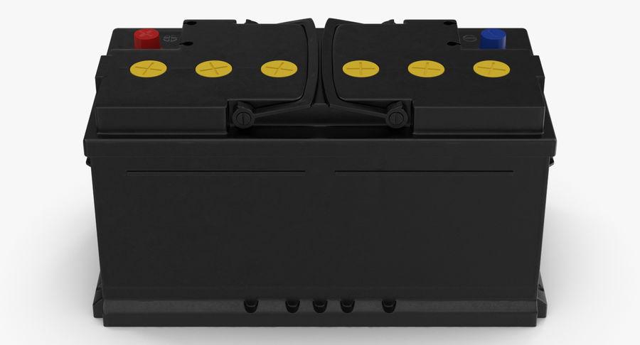 Bateria do carro 12v royalty-free 3d model - Preview no. 4
