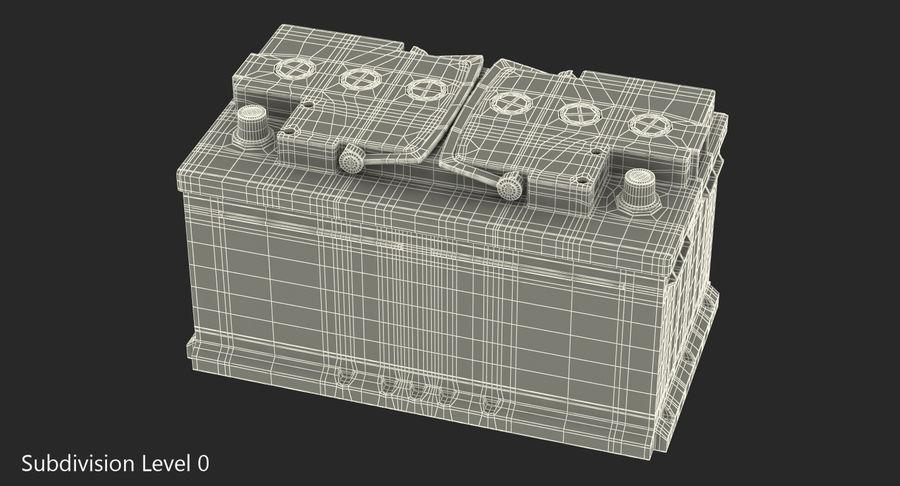 Bateria do carro 12v royalty-free 3d model - Preview no. 11