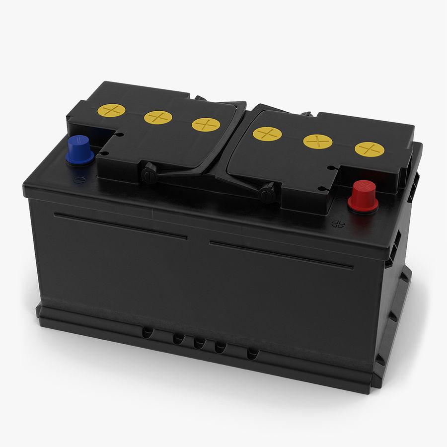 Bateria do carro 12v royalty-free 3d model - Preview no. 1