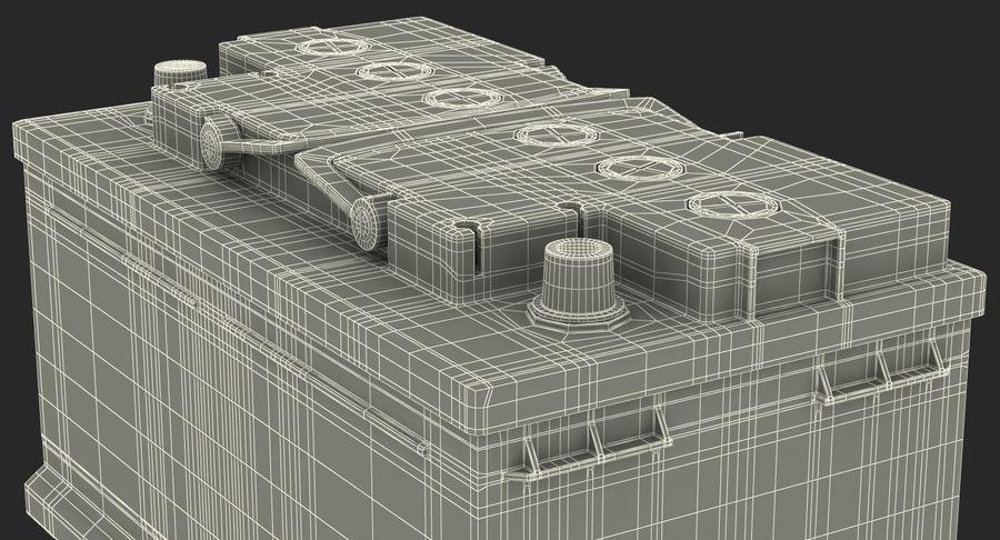 Bateria do carro 12v royalty-free 3d model - Preview no. 21