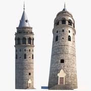 Średniowieczna wieża 3d model
