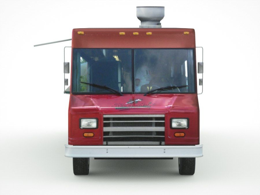 street Fast-Food Truck royalty-free 3d model - Preview no. 8
