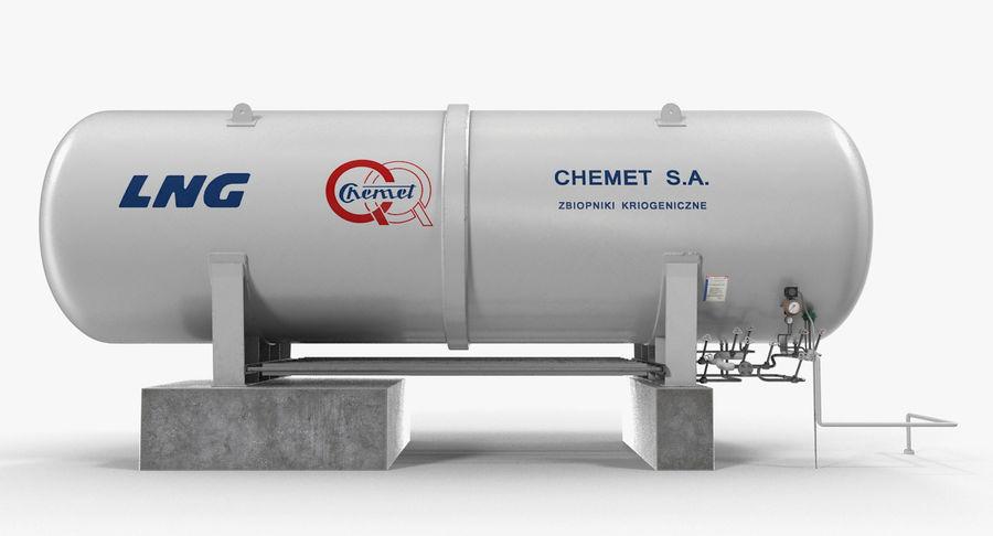 LNG Cryogenic Storage Tank 3D Model $39 -  max  obj  ma  fbx