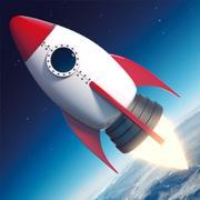 Nave espacial de dibujos animados modelo 3d