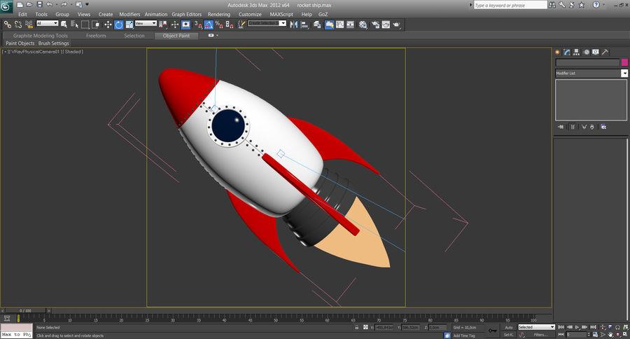 Cartoon Rocket Ship royalty-free 3d model - Preview no. 9