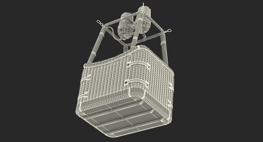 Hot Air Balloon Basket royalty-free 3d model - Preview no. 16