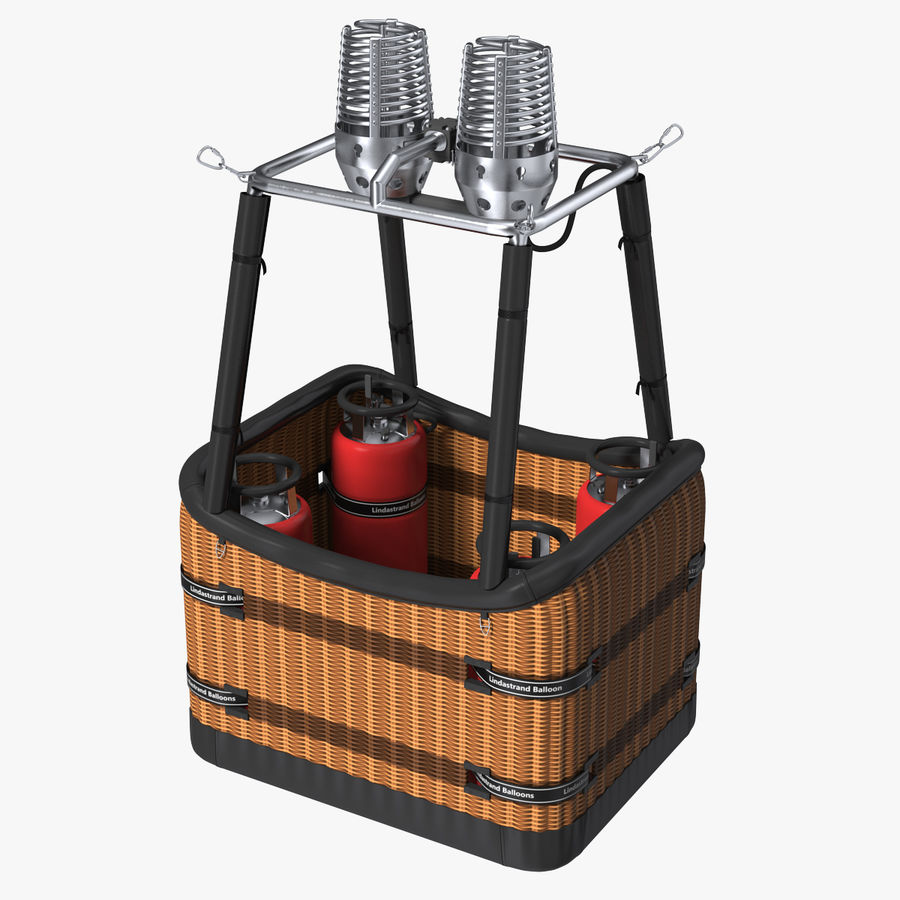 Hot Air Balloon Basket royalty-free 3d model - Preview no. 1