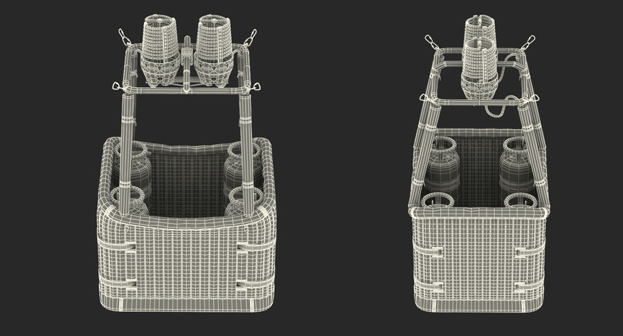 Hot Air Balloon Basket royalty-free 3d model - Preview no. 17