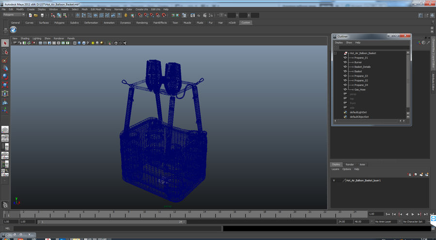 Hot Air Balloon Basket royalty-free 3d model - Preview no. 14