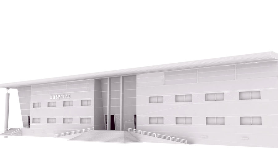 Hospital Building royalty-free 3d model - Preview no. 11