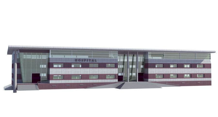 Hospital Building royalty-free 3d model - Preview no. 3