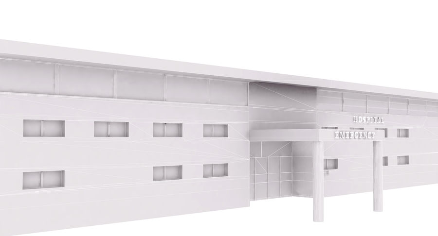 Hospital Building royalty-free 3d model - Preview no. 10