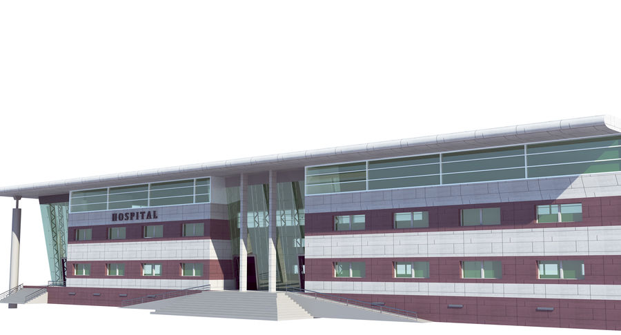 Hospital Building royalty-free 3d model - Preview no. 9