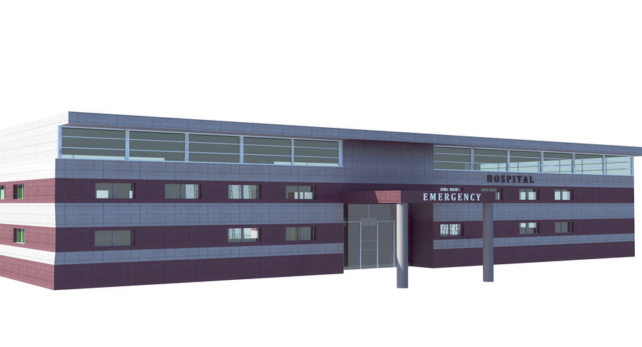 Hospital Building royalty-free 3d model - Preview no. 5