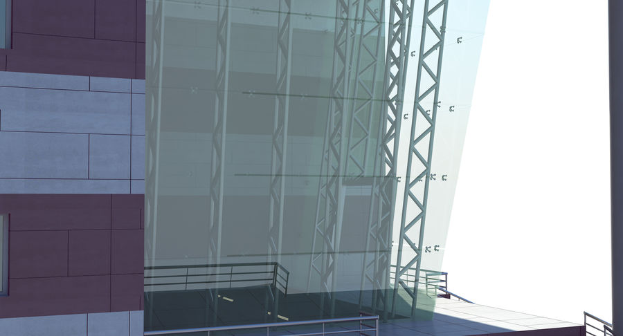 Hospital Building royalty-free 3d model - Preview no. 7