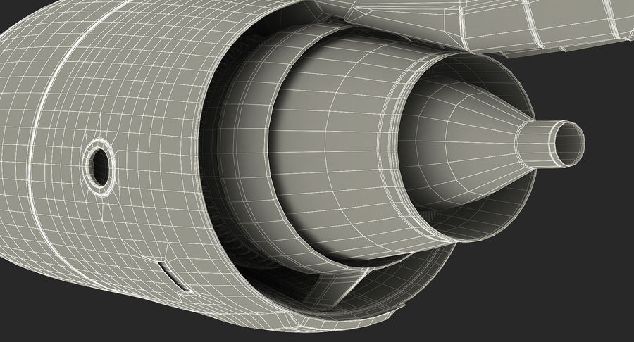Motor de Turbofan de jatos de aeronaves royalty-free 3d model - Preview no. 22
