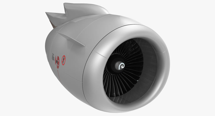 Aircraft Jet Turbofan Engine royalty-free 3d model - Preview no. 2